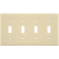 Almond - 4 Gang - Toggle Wall Plate - Enerlites 8814-A