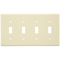 Light Almond - 4 Gang - Toggle Wall Plate - Leviton 78012