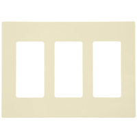 Light Almond - Screwless - 3 Gang - Decorator Wall Plate - Leviton Decora 80311-ST