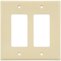 Almond - 2 Gang - Mid Size - Decorator Wall Plate - Enerlites 8832M-A