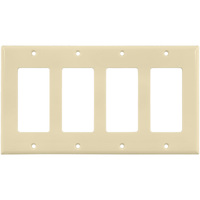 Almond - 4 Gang - Decorator Wall Plate - Enerlites 8834-A