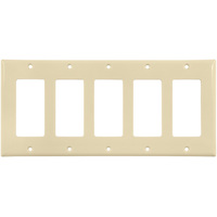 Almond- 5 Gang - Decorator Wall Plate - Enerlites 8835-A