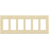 Almond - 6 Gang - Decorator Wall Plate - Enerlites 8836-A