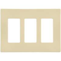 Almond - Screwless - 3 Gang - Decorator Wall Plate - Enerlites SI8833-A