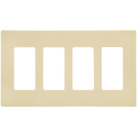 Almond - Screwless - 4 Gang - Decorator Wall Plate - Enerlites SI8834-A