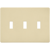 Almond - Screwless - 3 Gang - Toggle Wall Plate - Lutron Fassada FG-3-AL