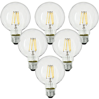 LED - 3.5 in. Dia. Globe - 4.5 Watt - 40 Watt Equal - Incandescent Match - 450 Lumens - 2700 Kelvin - Medium Base - 120V - 6 Pack - PLT-11356-6PK