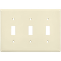 Ivory - 3 Gang - Toggle Wall Plate - Enerlites 8813-I