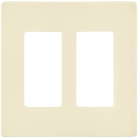 Ivory - Screwless - 2 Gang - Decorator Wall Plate - Enerlites SI8832-I