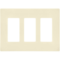 Ivory - Screwless - 3 Gang - Decorator Wall Plate - Enerlites SI8833-I