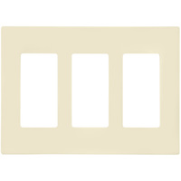 Ivory - Screwless - 3 Gang - Decorator Wall Plate - Leviton Decora 80311-SI