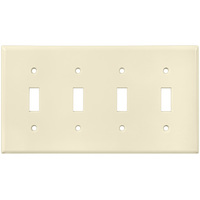 Ivory - 4 Gang - Toggle Wall Plate - Leviton 86012