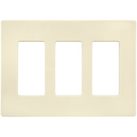 Ivory - Screwless - 3 Gang - Decorator Wall Plate - Lutron Claro CW-3-IV