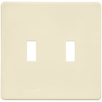 Ivory - Screwless - 2 Gang - Toggle Wall Plate - Lutron Fassada FG-2-IV