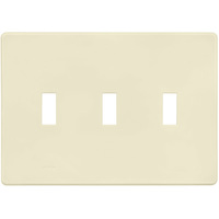 Ivory - Screwless - 3 Gang - Toggle Wall Plate - Lutron Fassada FG-3-IV