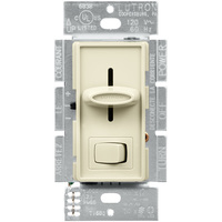 CFL/LED or Incandescent/Halogen Dimmer - Single Pole/3-Way - Ivory - 600 Watt Maximum - Rocker and Slide Switch - 120 Volt - Lutron SCL-153P-IV