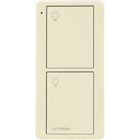 2-Button Remote with On/Off Light Control - For Lutron Wireless Load-Control Devices - Ivory - 30 ft. Range - Battery Operated - Lutron PJ2-2B-GIV-L01