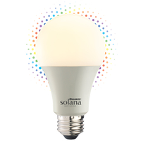 Smart WiFi Light Bulb - Multicolor and Dimming Adjustable - 8 Watt - LED A19 Bulb - Easy WiFi Setup - No Hub Required - Works with Amazon Alexa and Google Assistant - Bulbrite 195120