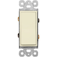 Ivory - 15 Amp Max. - Decorator Switch - 4-Way - Paddle - 120/277 Volt