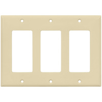 Decorator Wall Plate - Almond - 3 Gang - Enerlites 8833-A