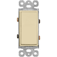 Decorator Switch - 4-Way - Almond - 15 Amp Maximum - Paddle Switch - 120-277 Volt - Enerlites 94150-A