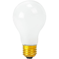 60 Watt - A19 Light Bulb - Frosted - Rough Service - Medium Brass Base - 130 Volt - PLT-11288