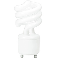 Spiral CFL - 13 Watt -  60W Equal - 5000K Full Spectrum - GU24 Base - TCP 33113SP50K