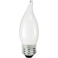LED Chandelier Bulb - 3 Watt - 25 Watt Equal - 225 Lumens - 2200 Kelvin - Candle Glow - Frosted - Medium Base - 120 Volt - TCP FF11D2522KW