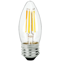 LED Chandelier Bulb - 4 Watt - 40 Watt Equal - 300 Lumens - 2700 Kelvin - Incandescent Match - Clear - Medium Base - 120 Volt - TCP FB11D4027EC