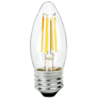 LED Chandelier Bulb - 5 Watt - 60 Watt Equal - 475 Lumens - 2200 Kelvin - Candle Glow - Clear - Medium Base - 120 Volt - TCP FB11D6022KC