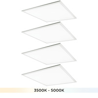 2 x 2 LED Light Fixture - Color Selectable from 3500 to 5000 Kelvin - 30 Watt - 3300-3750 Lumens - Opaque Lens - 4 Pack - PLT-11598
