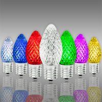 LED C7 - Color Changing - 0.6 Watt - Candelabra Base - Faceted Finish - 50,000 Life Hours - LED Retrofit Bulb - 130 Volt - Pack of 25