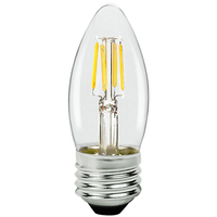 LED Chandelier Bulb - 3 Watt - 25 Watt Equal - 250 Lumens - 2700 Kelvin - Incandescent Match - Clear - Medium Base - 120 Volt - TCP FB11D2527EC