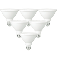 LED PAR30 Short Neck - 11 Watt - 75 Watt Equal - Halogen Match - 6 Pack - 850 Lumens - 3000 Kelvin - 40 Deg. Flood - PLT-11239-6PK