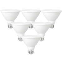 LED PAR38 - 15 Watt - 100 Watt Equal - Color Corrected - 1050 Lumens - 2700 Kelvin - 40 Deg. Flood - 120 Volt - 6 Pack - PLT-11040-6PK