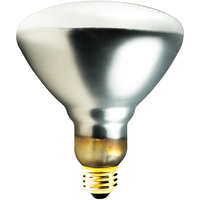 Shatter Resistant - 75 Watt - BR38 Incandescent Light Bulb - Medium Brass Base - 130 Volt - PLT TC-0075BR38