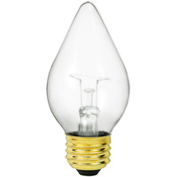 Shatter Resistant - 60 Watt - C15 Chandelier Bulb - Clear - Straight Tip - Medium Base - 120 Volt - PLT-PFA60C15CL120V