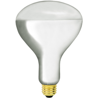 Shatter Resistant - 125 Watt - BR40 - IR Heat Lamp - P.F.A Coating - Clear - 5,000 Life Hours - 120 Volt