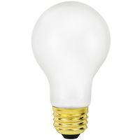 25 Watt - A19 Incandescent Light Bulb - Silicone Coating - Medium Brass Base - 130 Volt - PLT-25ARSTF