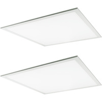 2 x 2 LED Panel - 23, 29, or 38 Watt - 4100 Lumens - 5000 Kelvin - Wattage Selectable Fixture - 120-277 Volt - 2 Pack - TCP FP2UZD3850K