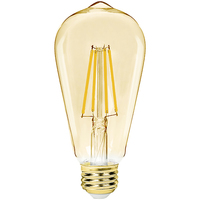 LED Edison Bulb - 7 Watt - 60 Watt Equal - 600 Lumens - 2200 Kelvin - Color Matched For Incandescent Replacement - 120 Volt - 90+ Lighting SE-RCL06.1107-B