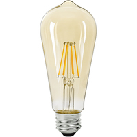 LED Edison Bulb - 6.5 Watt - 60 Watt Equal - 650 Lumens - 2000 Kelvin - Color Matched For Incandescent Replacement - 120 Volt - Satco S9579