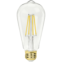 LED Edison Bulb - 7 Watt - 75 Watt Equal - 800 Lumens - 2700 Kelvin - Incandescent Match - 120 Volt - 90+ Lighting SE-RCL06.1107-A