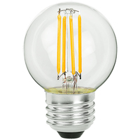 2.05 in. Dia. - LED Globe - 4 Watt - 40 Watt Equal - 380 Lumens - 2700 Kelvin - Incandescent Match - Medium Base - 120 Volt - PLT-11160