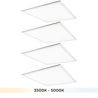 2 x 2 LED Flat Panel Fixture - Selectable Watts 25-40 - Selectable Color Temp. 3500-5000K - 120-277 Volts - Halco 10331