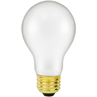 Shatter Resistant - 50 Watt - A19 Light Bulb - Medium Brass Base - 130 Volt - PLT 50ARS/TF