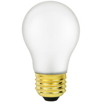 Shatter Resistant - 15 Watt - A15 Light Bulb - Frosted - Silicone Coating - Appliance Bulb - Medium Brass Base - 130 Volt - PLT 15A15/TF