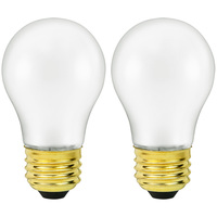 40 Watt - A15 Incandescent Light Bulb - 2 Pack - Silicone Coating - Medium Brass Base - 130 Volt - Halco 6146