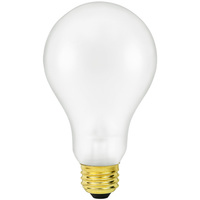 Shatter Resistant - 150 Watt - A23 Light Bulb - Medium Brass Base - 130 Volt - PLT TC-0150A23