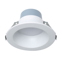 8 in. LED Downlight - 10, 15, or 22 Watt - 2000 Lumens - 3000, 3500, or 4000 Kelvin - Wattage and Color Selectable Fixture - 120-277 Volt - Euri Lighting DLC8C-22W103swej